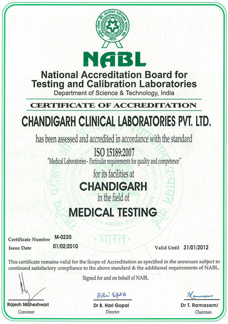 Chandigarh Clinical Laboratories Pvt Ltd Chandigarh